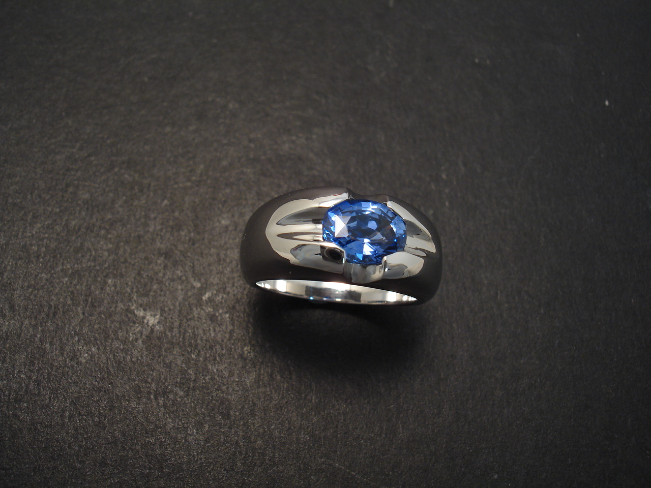 sapphire gold and ring created sterling itm in ceylon ct silver