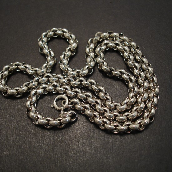 Classic Link-Chain Silver Necklace