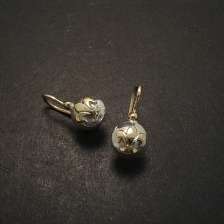 Fleur-de-Lys Sterling Silver Earrings