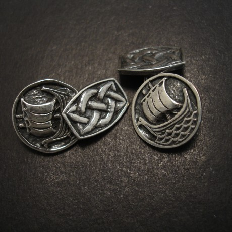 Isle Of Iona Silver Cuff Links
