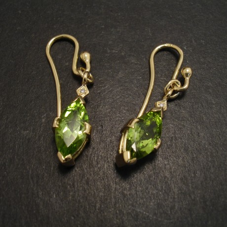 Peridot and Gold Earrings