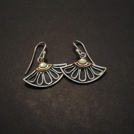 Stylized Lotus Silver Earrings