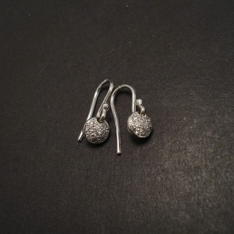 White Gold, White Diamond Earrings