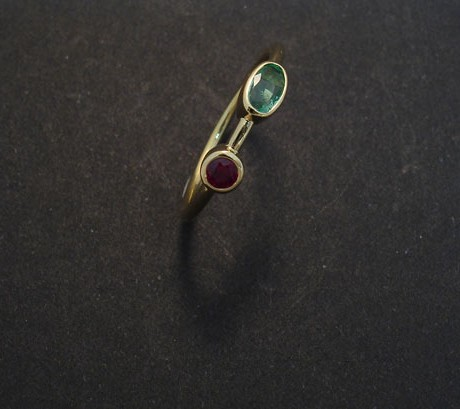 zambian emerald ring beryls and pink sapphire baguette emerald ring