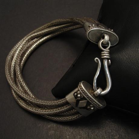 tribal-silver-4-strand-rope-bracelet-08749
