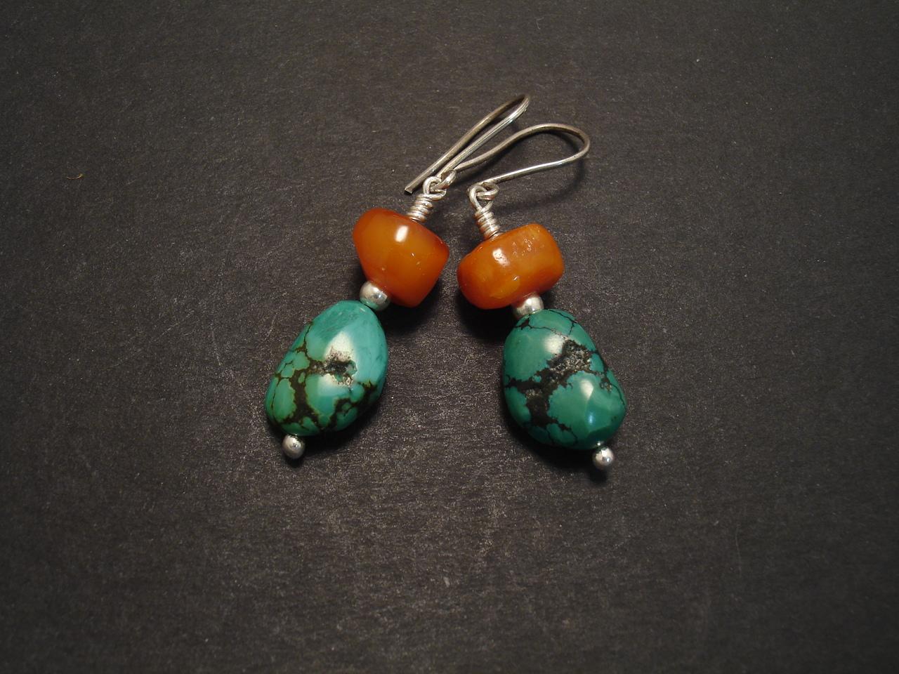 cf7427dcf Old Tibetan Turquoise Earrings - Christopher William Sydney ...
