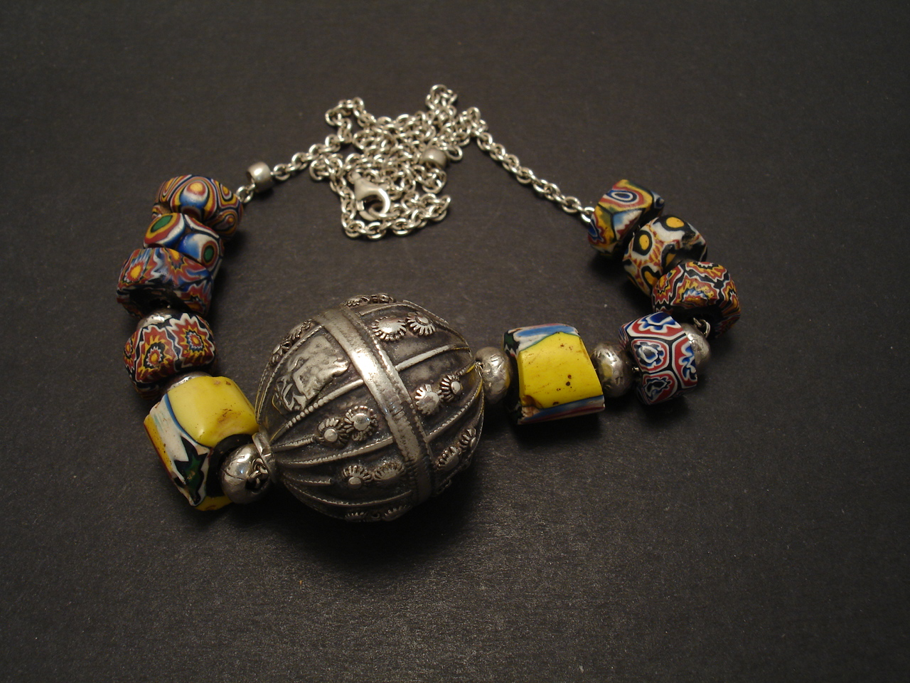Yemen Silver & Trade Beads Necklace - Christopher William Sydney ...