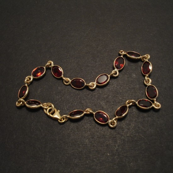 Garnet Gold Linked Bracelet Christopher William Sydney Australia