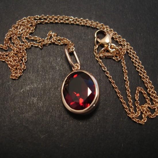 Garnet Pendant 9ct Rose Gold Christopher William Sydney