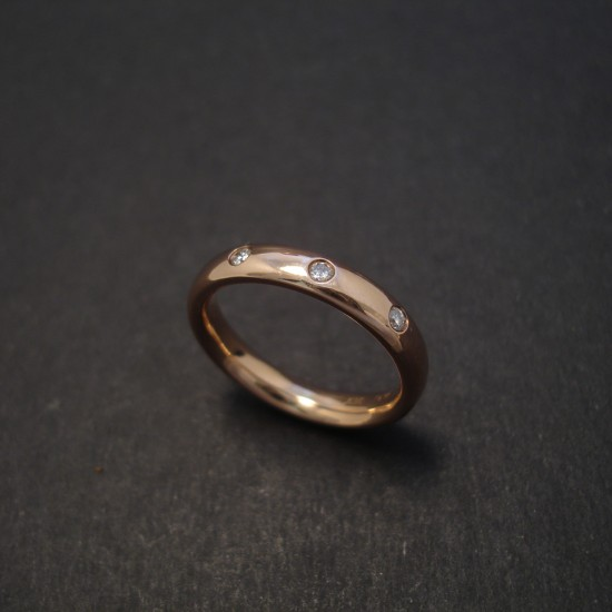 Handmade Rose Gold Ring Diamonds Christopher William Sydney