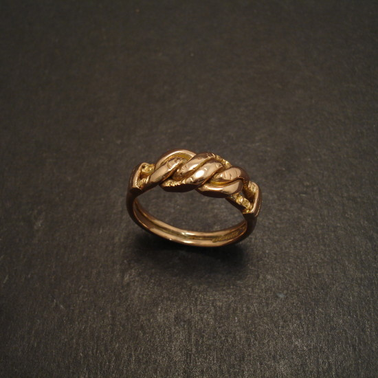 Night Day Antique Gold Knot Ring Christopher William