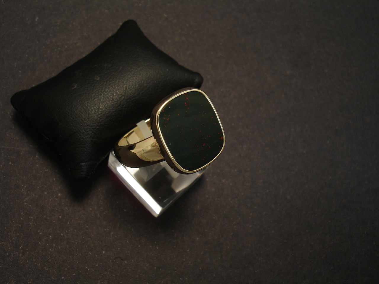 Bloodstone Ring, Handmade 9ct Gold - Christopher William Sydney Australia -  Antique, ruby, coral and tribal jewellery