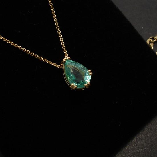 Emerald Teardrop Amp 18ct Gold Pendant Christopher William