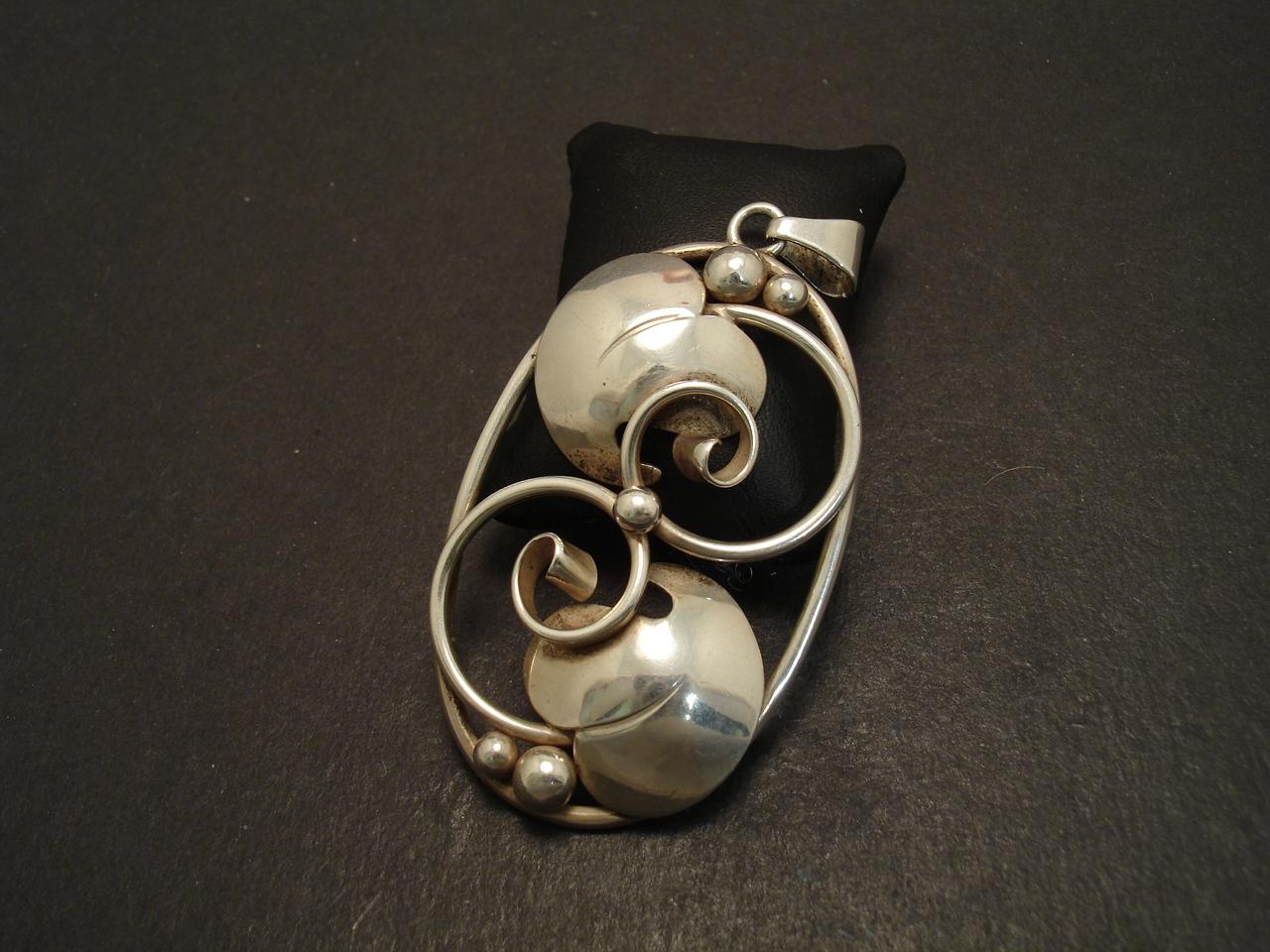 Antique art nouveau silver pendant christopher william sydney antique art nouveau danish silver oval pendant 08661 aloadofball Gallery