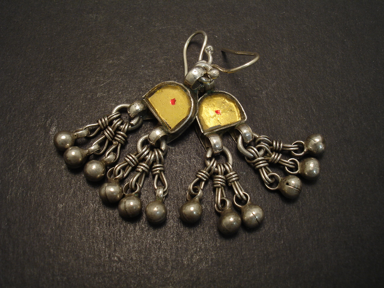 silver shape earrings rajasthani peacock a in oxidized german antique pearl finish plated jhumki