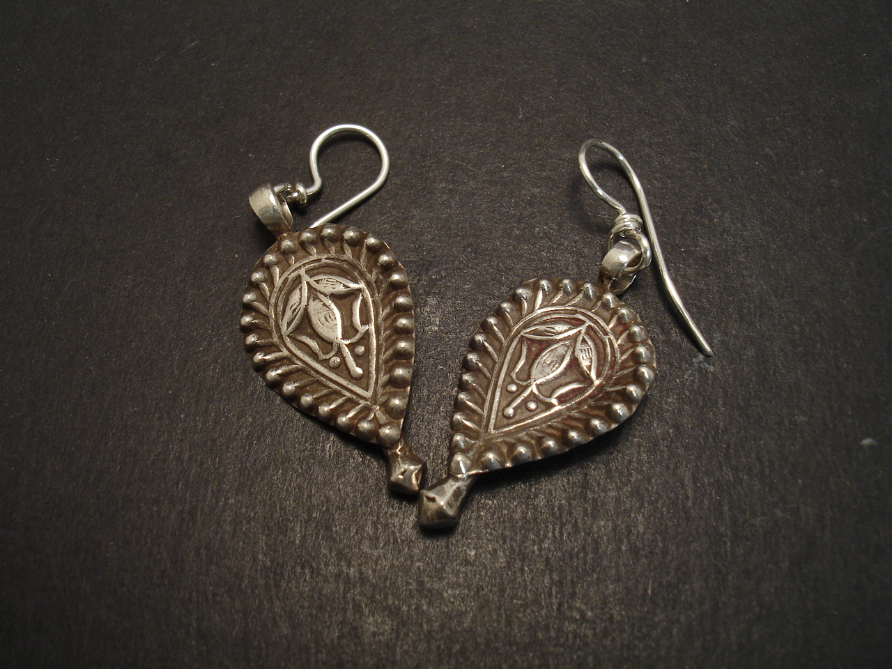 Tribal afghani silver pendants as earrings christopher william tribal afghani silver pendants earrings 08596g mozeypictures Gallery