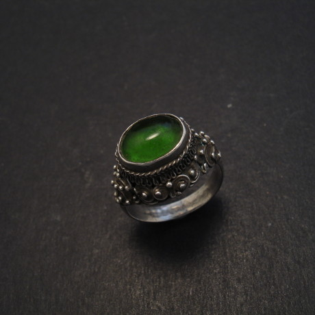 vientiane-silver-ring-green-glass-old-08415