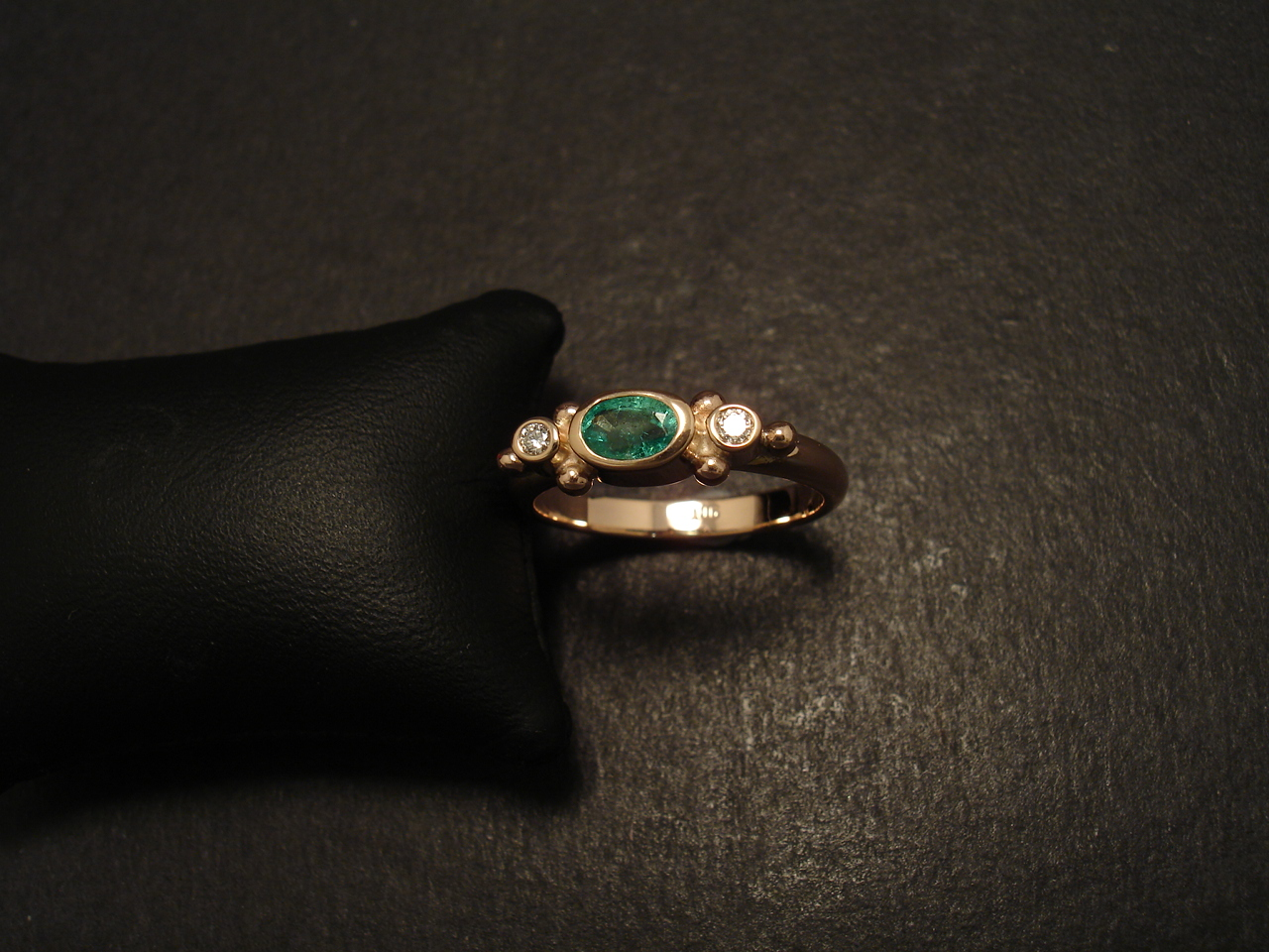 emerald gold ring christopher william