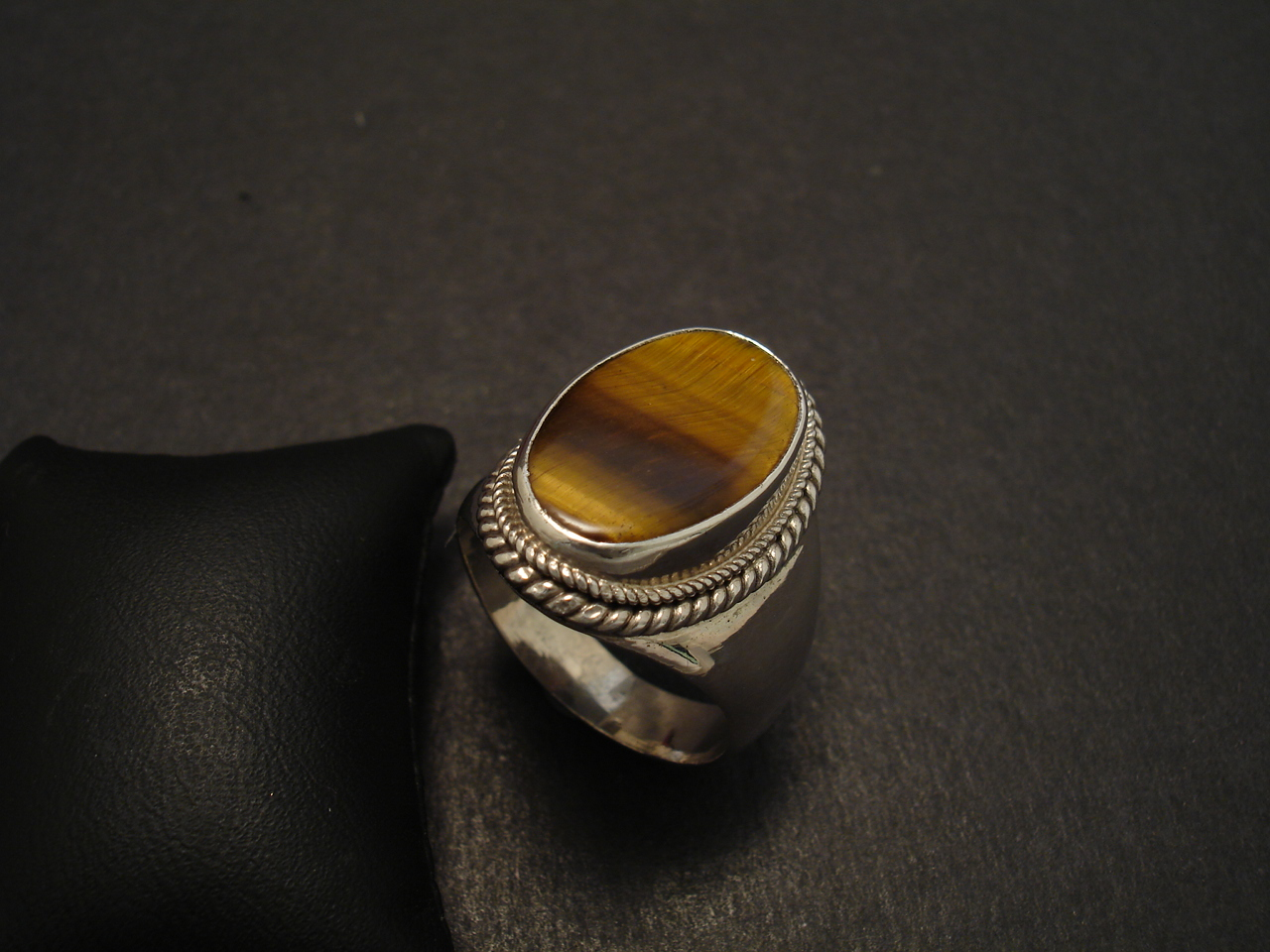 tigers eye handmade silver ring christopher william