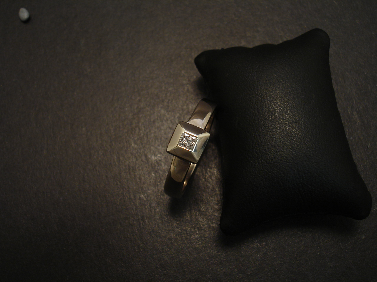 modern clean white gold ring christopher
