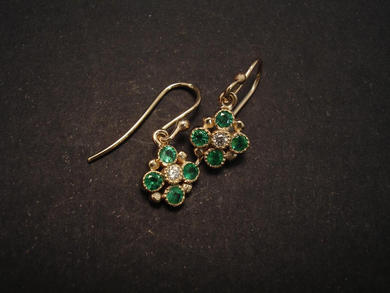 aagrade emerald gold earrings christopher