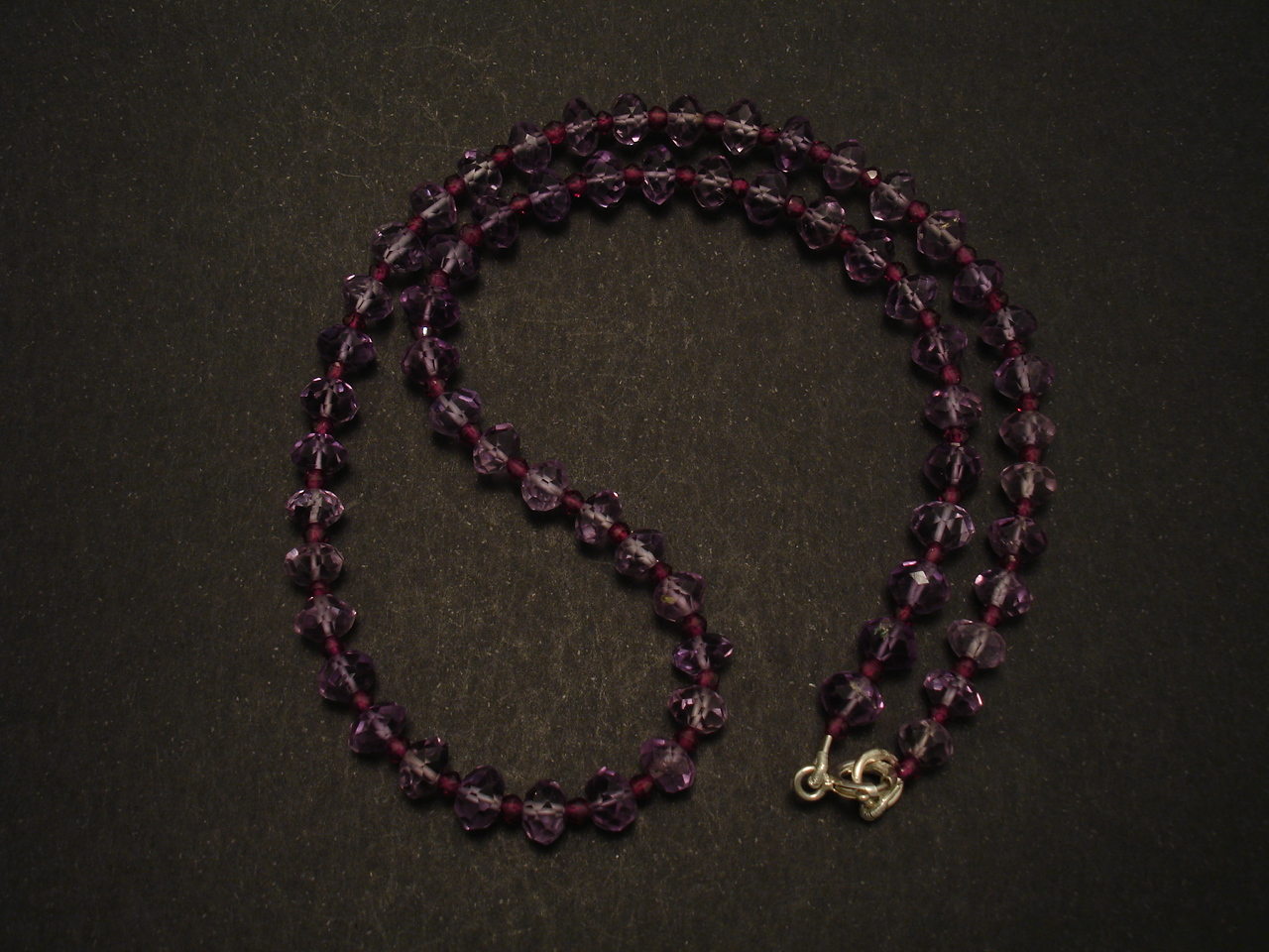 Cut Amethyst Amp Small Garnet Bead Necklace Christopher