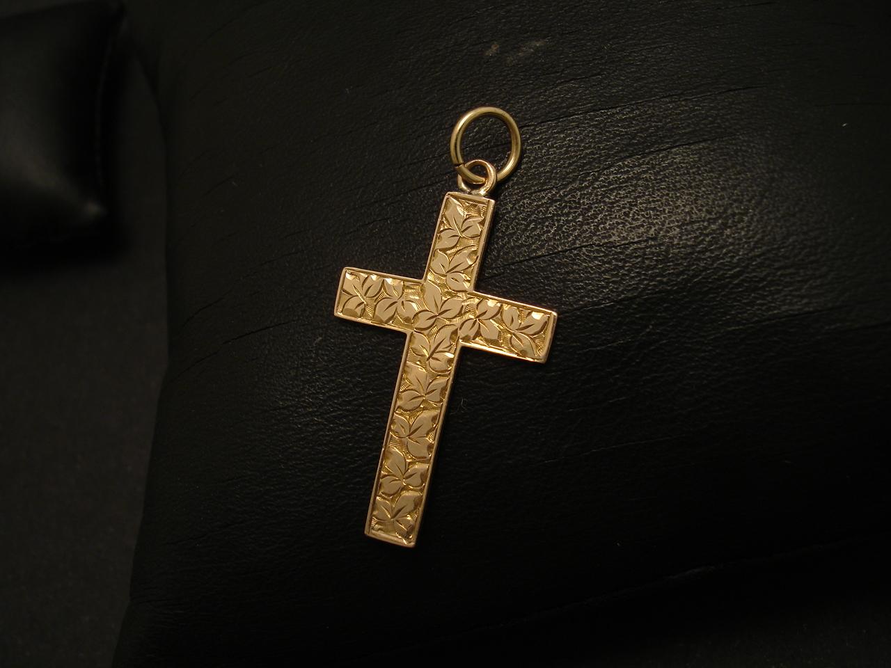 Year 1902 hallmark 9ct gold english cross pendant christopher year 1902 9ctgold english antique cross 02093g aloadofball Image collections