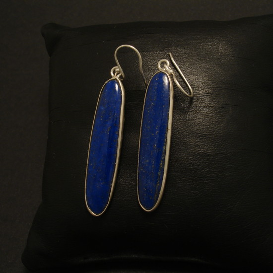 40x9mm-long-ovals-lapis-lazuli-silver-earrings