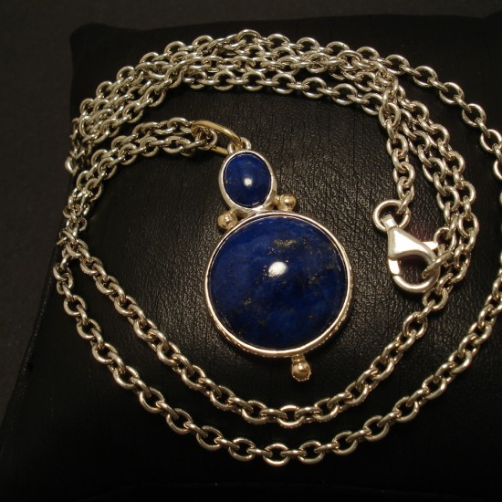lazuli necklace lapis on gemstone teardrop product dhgate s online pendant with natural store piece