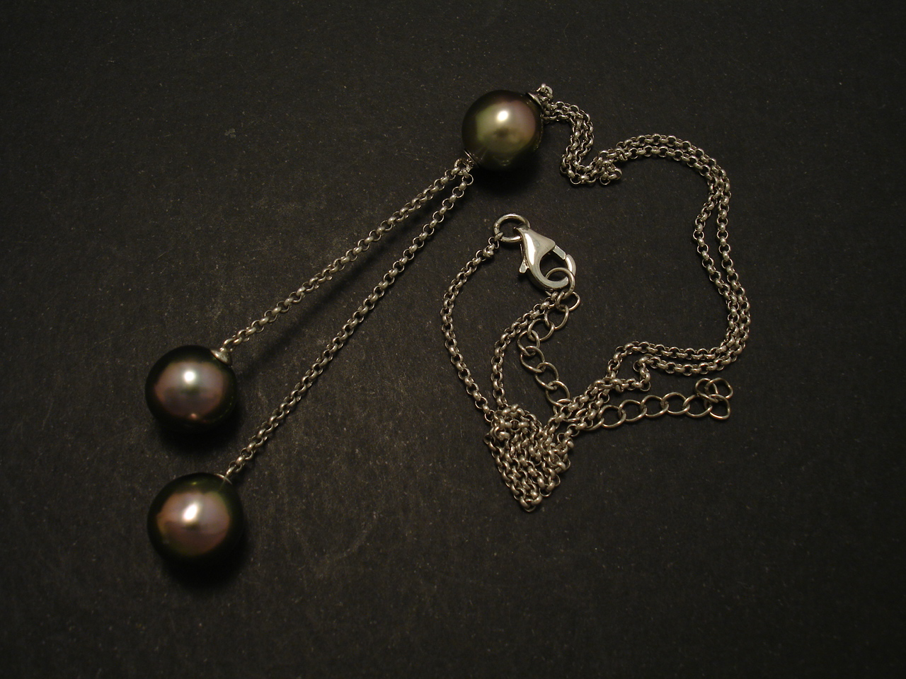 pearl black medium classic shop redo pearls the girls necklace