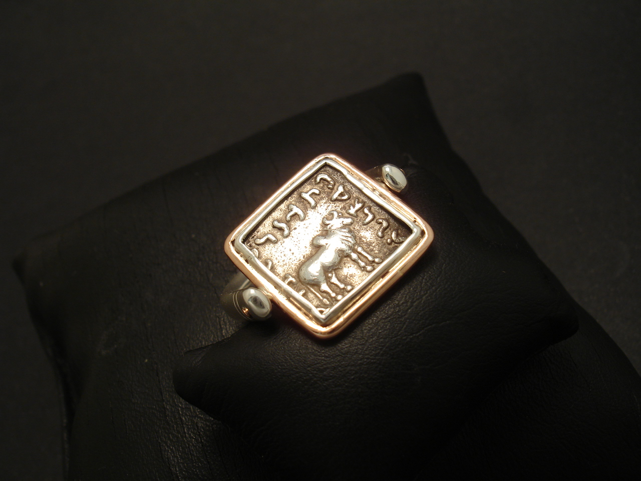 72f642880 Indo-Greek Bactrian Silver Coin, Silver Swivel Ring - Christopher ...