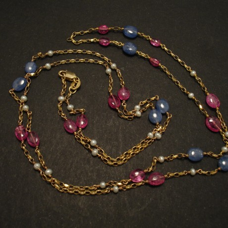 sapphire-spinel-pebbles-pearl-long-9ctgold-chain-necklace-03003