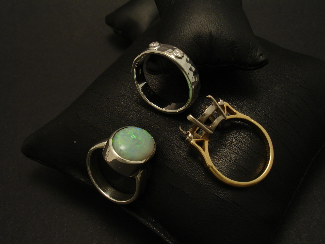 b4dc4c9f983d1 Opal Ring & Diamond Ring Custom Made in Silver - Christopher William ...