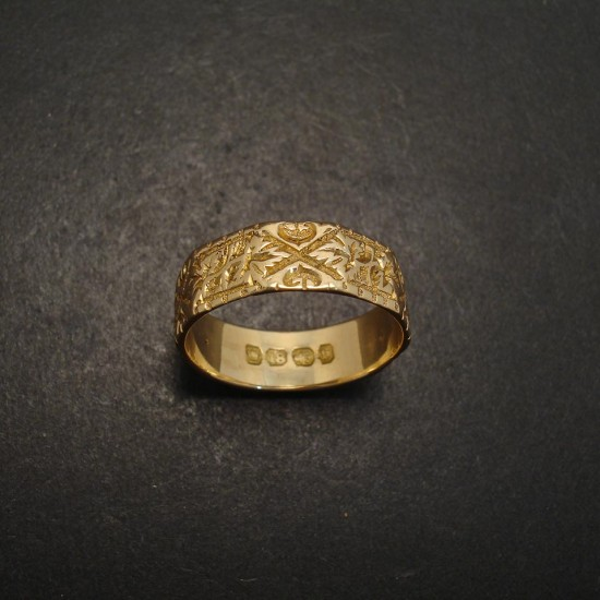Old English Gold Ring Christopher William Sydney