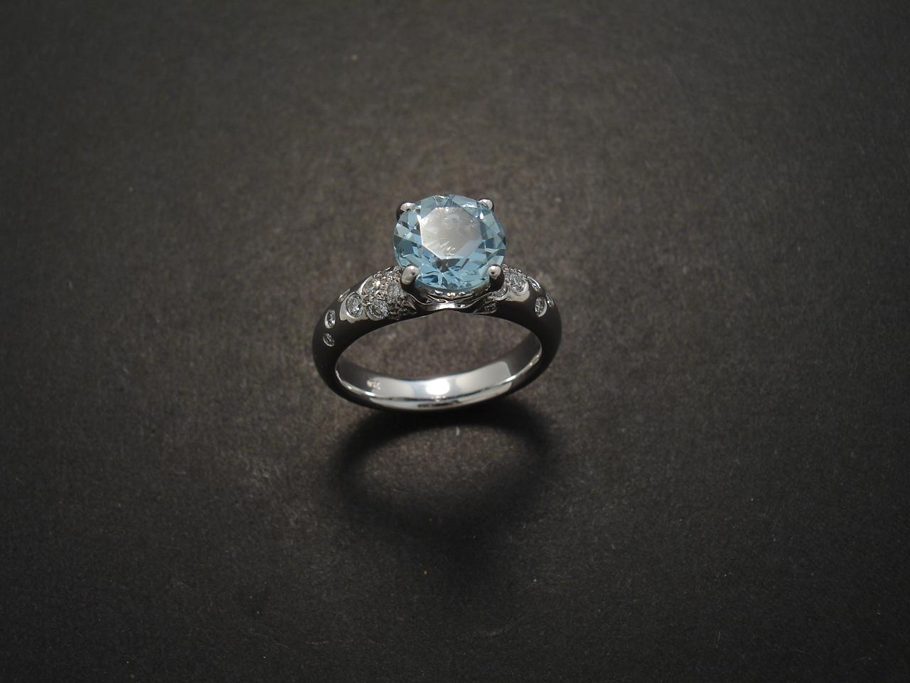 Aquamarine Engagement Ring Christopher William Sydney