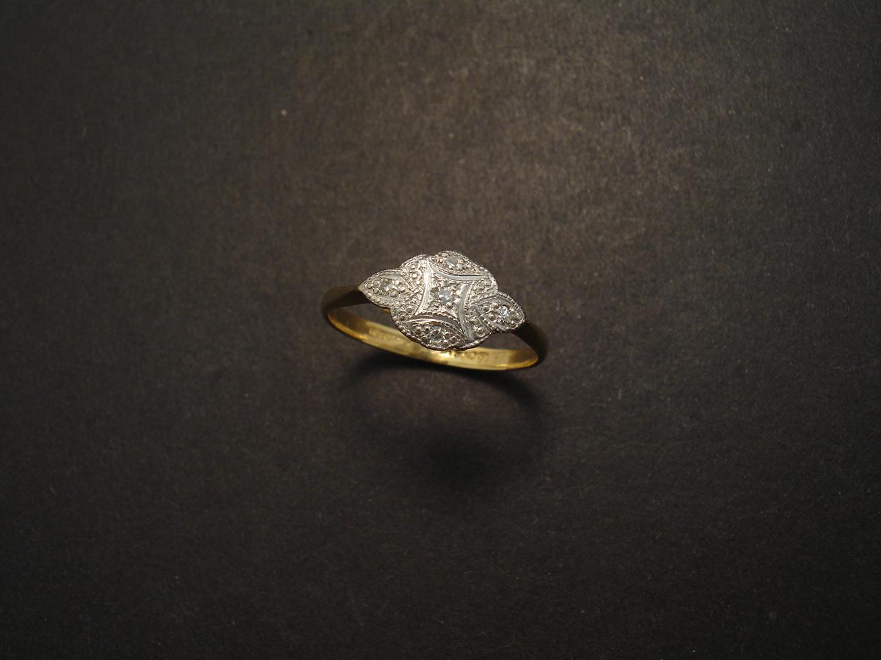 platinum gold antique ring christopher william