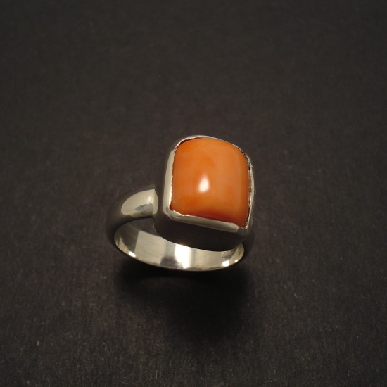 broken coral bead silver ring christopher william