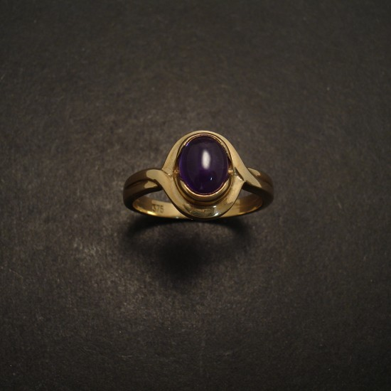 Cabochon Amethyst Gold Ring Christopher William Sydney