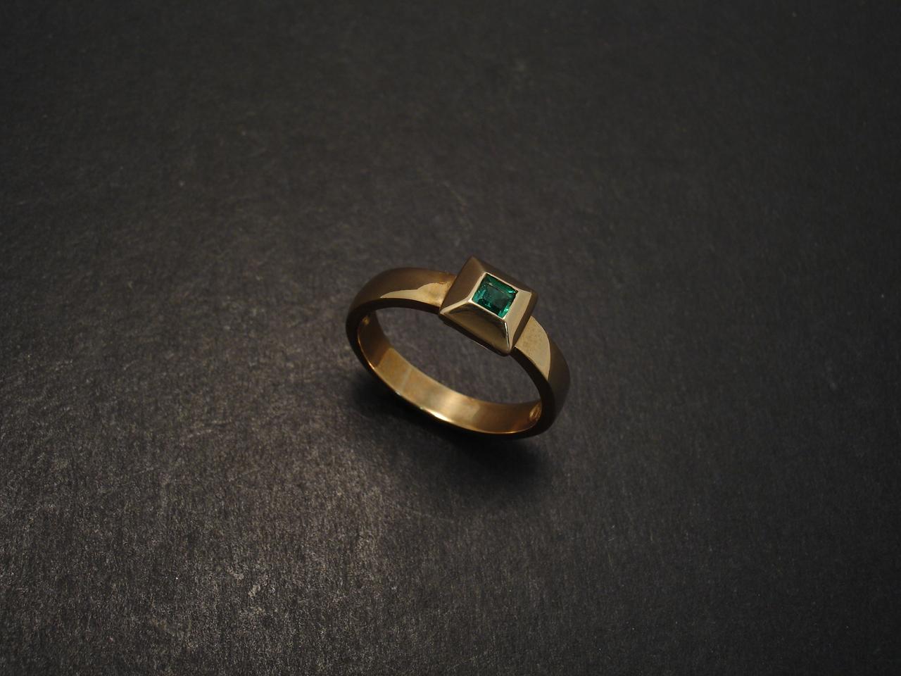 Emerald Princess Brazilian Gold Ring Christopher