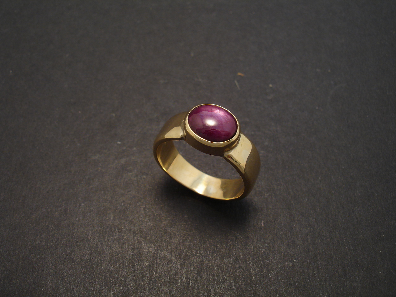 Six Point Star Ruby Mens Pinkie Ring Christopher