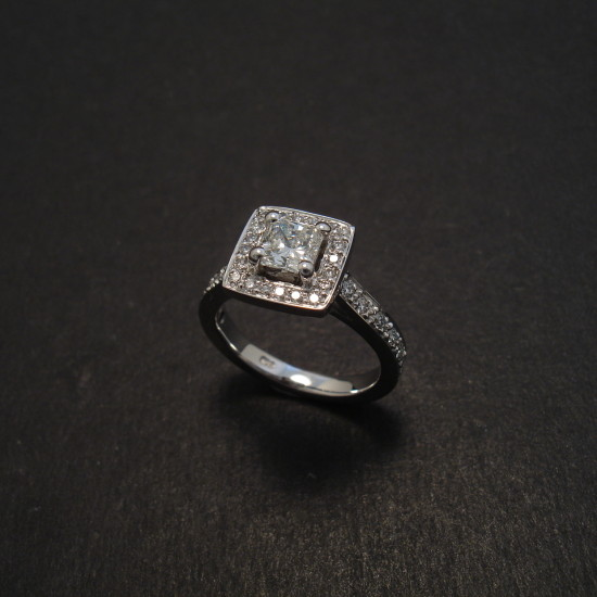 Square Radiant Diamond Engagement Ring Christopher William Sydney Australia