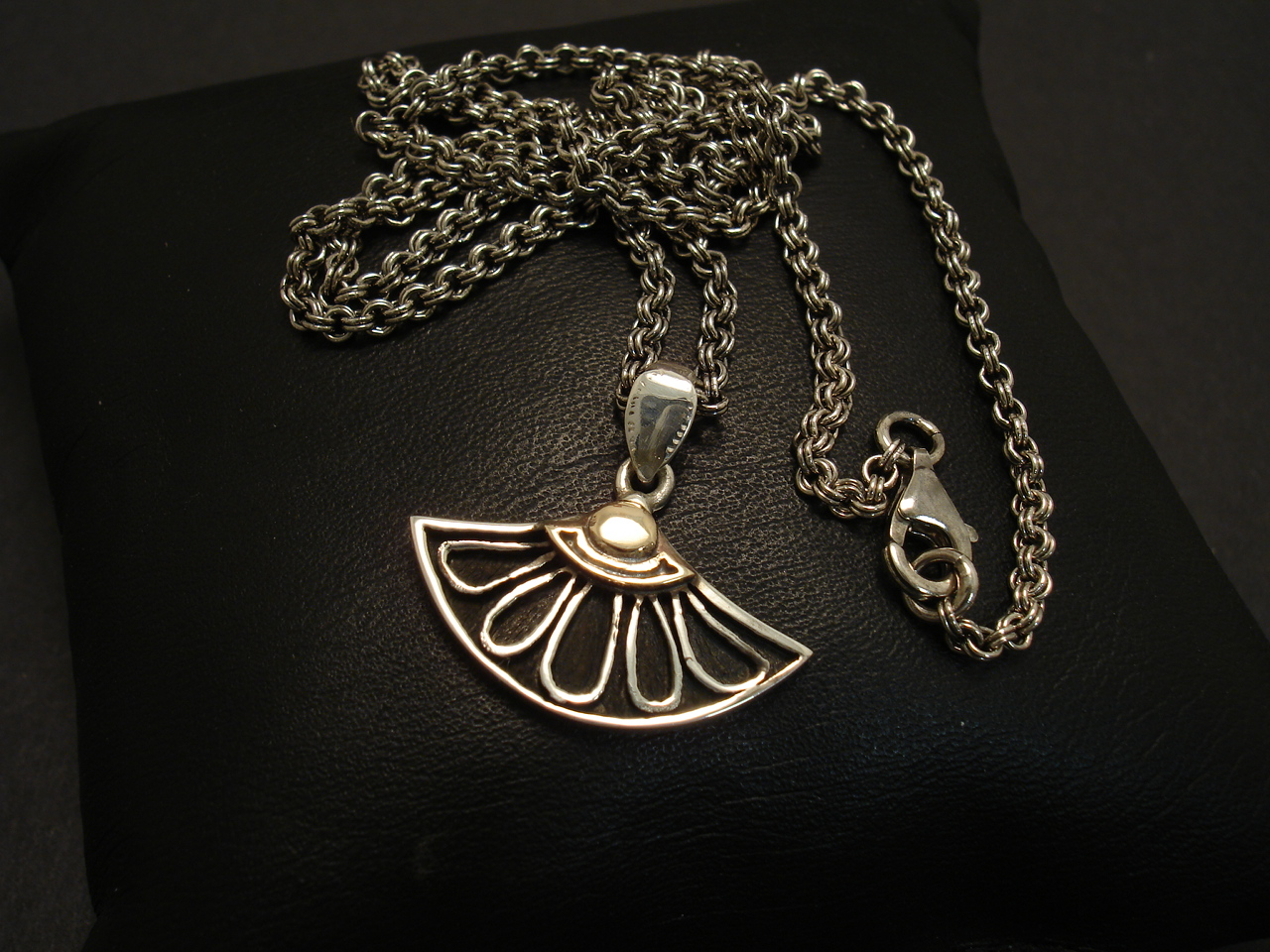 necklace sterling htm lotus pendant silver p golden flower