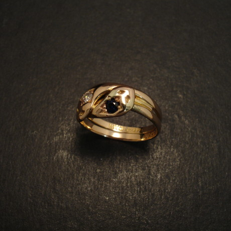antique-15ct-gold-snake-ring-b1887-diam-sapph-09269