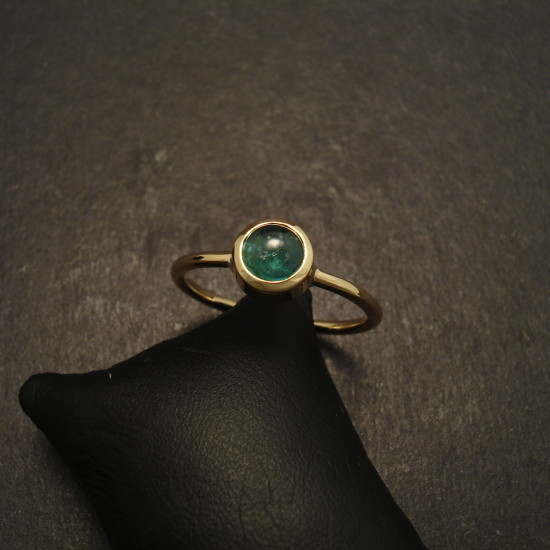 Emerald Ring 18ct Gold Handmade Christopher William Sydney