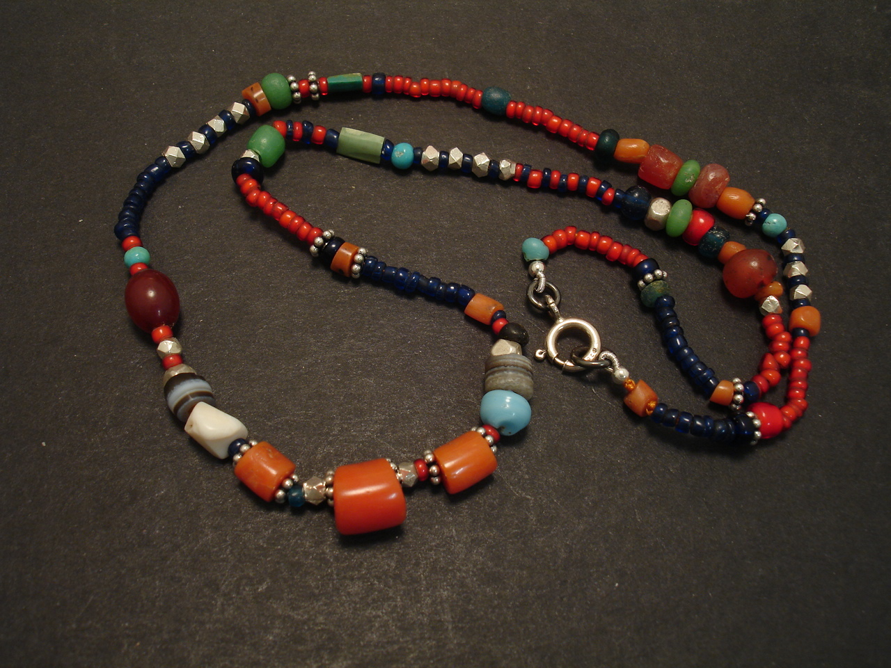 Native Coral Rare Bead Necklace Christopher William Sydney Australia Antique Ruby Coral And Tribal Jewellery