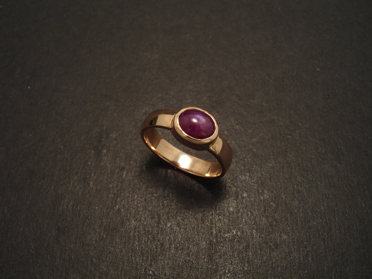 Relatively South Indian Star Ruby, Rose Gold Ring - Christopher William  PI15