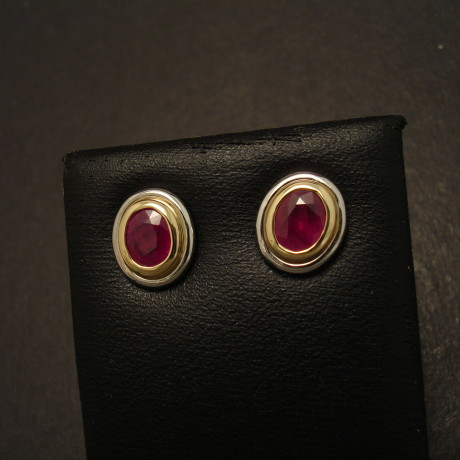 matched-burmese-ruby-oval-2tone-18ctgold-earstuds-09698