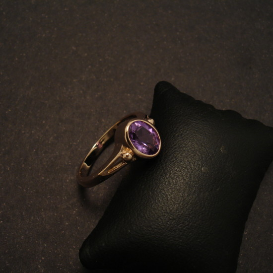 Late 1800s Ring Design Rose Gold Amethyst Christopher William