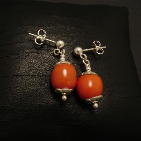 old-gem-quality-deep-orange-coral-silver-drop-studs-02452.jpg