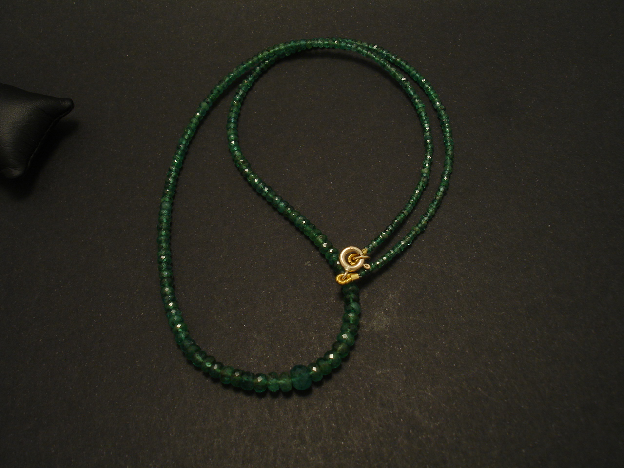 Cut Emerald Bead Necklace, Gold Finish - Christopher William Sydney  Australia - Antique, ruby, coral and tribal jewellery